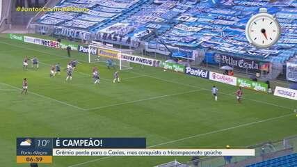 Grêmio perde para o Caxias, mas conquista o tricampeonato do Gauchão