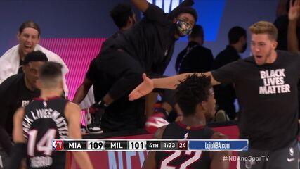 Melhores momentos de Miami Heat 115 x 104 Milwaukee Bucks pela NBA