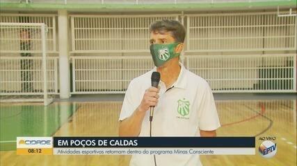 Atividades esportivas retornam dentro do programa Minas Consciente em Poços de Caldas, MG
