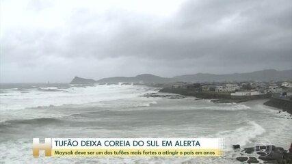 Coreia do Sul em alerta por causa do tufão Maysak