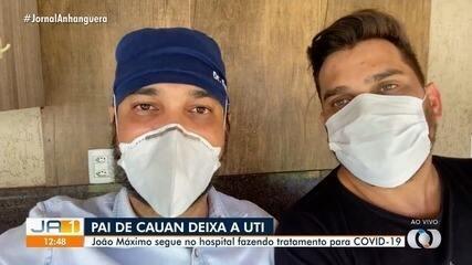 Cauan visita pai, que faz aniversário um dia após sair da UTI em tratamento da Covid-19