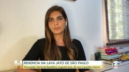 Aras diz que debandada do grupo da Lava Jato em São Paulo é 'questão interna'