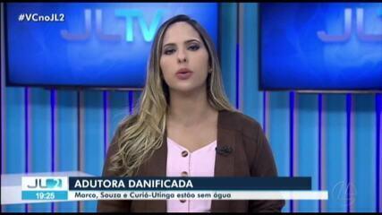 Bairros do Marco, Souza e Curio-Utinga estão sem água devido a adutora quebrada