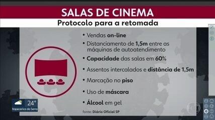 Salas de cinema já têm protocolos de segurança para a retomada