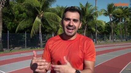 Marcos Montenegro nos bastidores da nova chamada do Globo Esporte