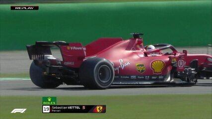 GP da Itália: Vettel tem problema de freio