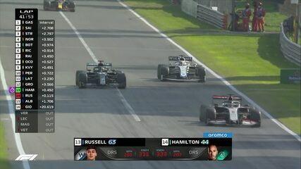 GP da Itália: Hamilton ultrapassa Russell