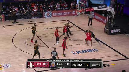 Melhores Momentos: Los Angeles Lakers 117 x 109 Houston Rockets pela NBA