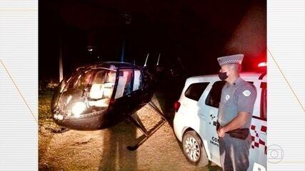 Piloto de helicóptero é preso depois de deixar 250 kg de pasta base de cocaína em Piedade