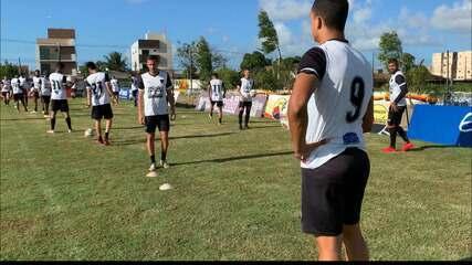 Felipe fala sobre sua permanência no Botafogo-PB na reapresentação da equipe