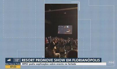 Resort promove show e MPSC pede explicações; Ânderson Silva comenta