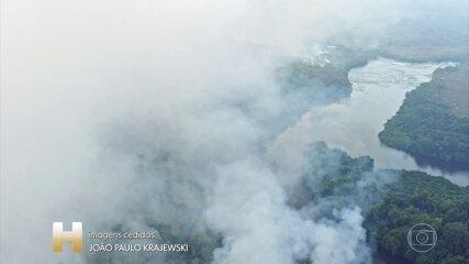 Extensão da fumaça dos incêndios no Brasil chegam a mais de 3 mil quilômetros