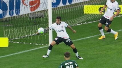 Pênalti no Palmeiras! Lucas Lima chutou e Wagner colocou a mão na bola aos 40 no primeiro tempo