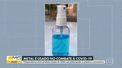 Pesquisadores da UFMG criam produto a base de nióbio que pode ajudar a prevenir a Covid-19