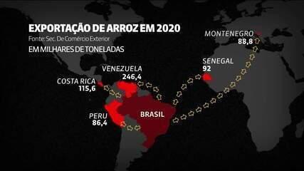Saiba de onde o Brasil compra e para onde vende arroz