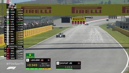 Dê uma olhada nos últimos momentos do Q1 para os treinos oficiais do GP de Fórmula 1 da Toscana