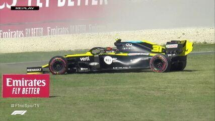 Esteban Ocon escorrega e atrapalha o treino final da Q3 do GP da Toscana de Fórmula 1