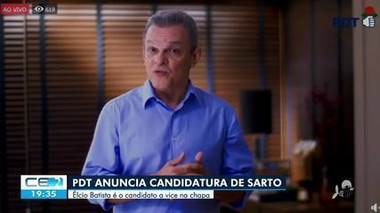 PDT anuncia candidatura de Sarto Nogueira à prefeitura de Fortaleza