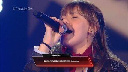 Relembre a trajetória da participante Giovana Aguilera nas Audições às Cegas