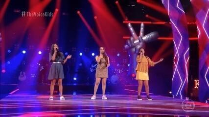 Relembre as participações de Cybeli Cardoso, Laura Luna e Natielly Rocha na segunda fase do 'The Voice Kids'