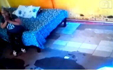 Vídeo mostra momento em que mulher achada em cisterna de motel é morta com tiro no peito