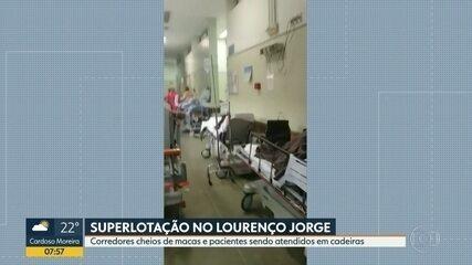 Pacientes denunciam superlotação no hospital Lourenço Jorge, na Zona Oeste