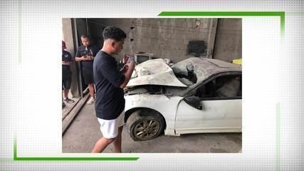 Dener Matheus, filho do ex-jogador, fala da emoção de ver o carro pela primeira vez
