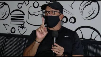 Hélio dos Anjos dá detalhes sobre sua saída do Paysandu. Assista à entrevista na íntegra: