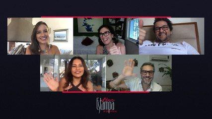 Elenco de Fina Estampa se reúne em um papo virtual