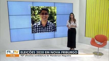 PDT oficializa candidatura de Wanderson Nogueira à Prefeitura de Nova Friburgo, no RJ