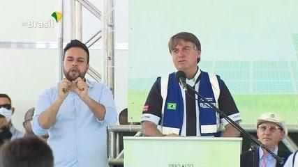 Em evento, Bolsonaro diz que Brasil 'está de parabéns' por preservar meio ambiente