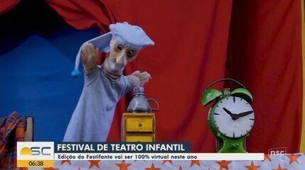 Festival gratuito de teatro para crianças ocorre online