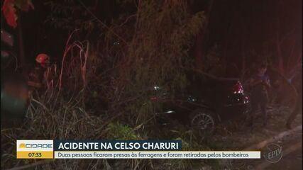 Acidente deixa três pessoas feridas na Avenida Celso Charuri em Ribeirão Preto