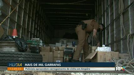 Polícia apreende mais de mil garrafas de vinho em Ampére
