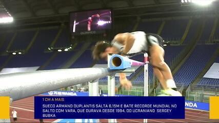 Sueco quebra recorde mundial do salto com vara que durava 26 anos