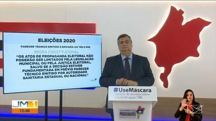 Flávio Dino fala sobre fiscalização para conter aglomerações em eventos políticos