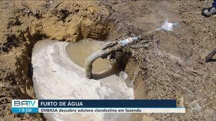 Embasa denuncia adutora clandestina de água em fazenda no sudoeste da Bahia