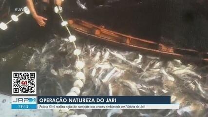 Dois são presos e 2,5 toneladas de pescado são apreendidas em operação no sul do Amapá