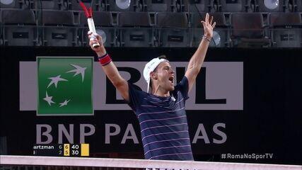 Os pontos finais de Diego Schwartzman 2 x 0 Rafael Nadal pelo Masters 1000 de Roma
