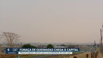 Fumaças de queimadas chagam à capital paulista