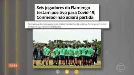 Seis jogadores do Flamengo testam positivo para Covid-19