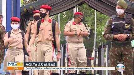 Colégio Militar de Belo Horizonte volta a ter aulas presenciais