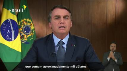 Veja trecho de discurso de Bolsonaro na ONU em que ele cita auxílio-emergencial de quase US$ 1000