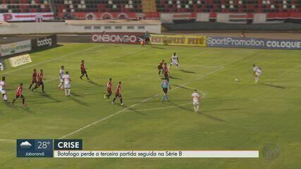 Botafogo-SP perde o terceiro jogo consecutivo e torcedores cobram jogadores