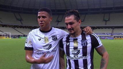 """Bergson e Vina falam da classificação do Ceará na Copa do Brasil """"Ficamos felizes e esperamos ajudar sempre"""""""