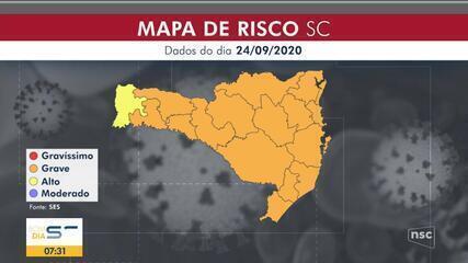 SC não tem mais região em situação gravíssima para Covid-19, segundo novo mapa