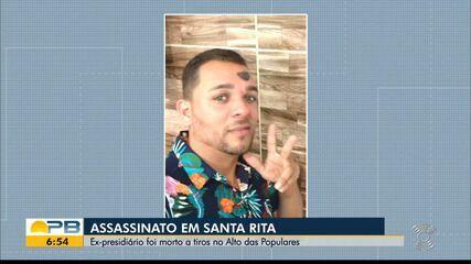 Ex-presidiário é morto a tiros, em Santa Rita
