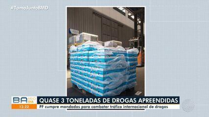 Polícia Federal desarticula quadrilha de tráfico internacional de drogas em Salvador