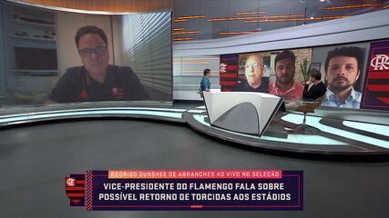 Vice-presidente do Flamengo fala sobre possível volta das torcidas aos estádios