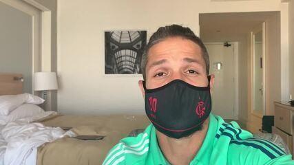 Diego, do Flamengo, mostra os bastidores da saga do isolamento em Guayaquil